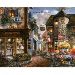 Картина по номера - Малка уличка в стария град