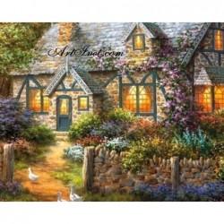Картина по номера - Вечерните светлини на вилата