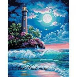 Картина по номера - Фарът и луната
