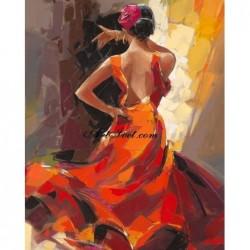 Картина по номера - Пелестна испанска танцьорка