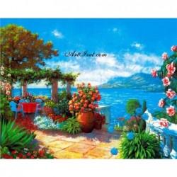Картина по номера -Цветен испански ден