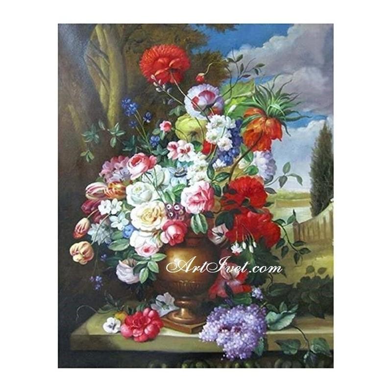 Картина по номера -Изобилие от цветя и емоции