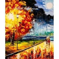 Картина по номера - Цветен есенен сън