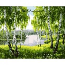 Картина по номера - Под брезите край реката
