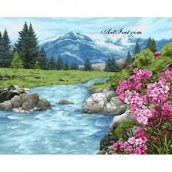 Картина по номера - Пролет в планината