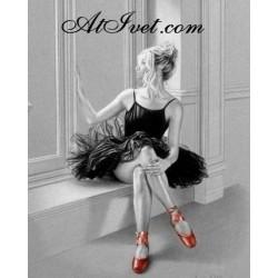 Картина по номера - Балерина в черна рокля