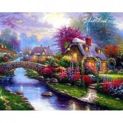 Картина по номера - Пролетна градина