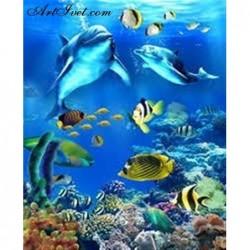Картина по номера - Делфини и приятели