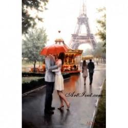 Картина по номера - Среща край Айфеловата кула