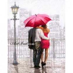 Картина по номера - Обичам да вали