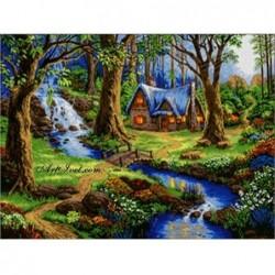 Картина по номера -Вълшебна къщичка в гората