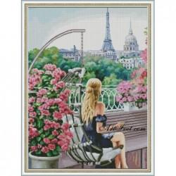 Картина по номера - На балкона ми в Париж