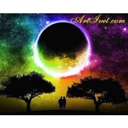 Картина по номера -Магическа африканска луна