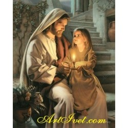 Картина по номера -Исус дарява светлина