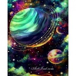 Картина по номера - Моят цветен свят