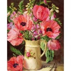 Картина по номера -Кана с летни цветя
