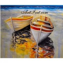 Картина по номера - Лодките и залеза