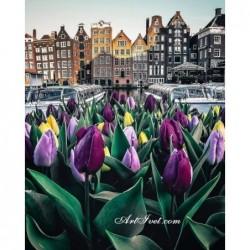 Картина по номера - Холандска сутрин с лалета