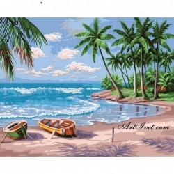 Картина по номера - Карибския остров Саона