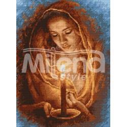 Гоблен щампа - Девойка със свещ ARIADNA
