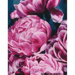 Картина по номера - Розови...