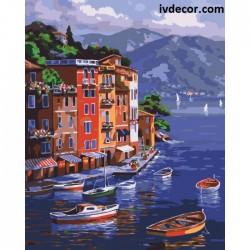 Картина по номера - Лодки в...