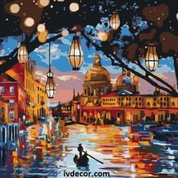 Рисуване по номера - Светлините на Венеция
