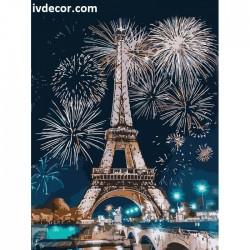 Рисуване по номера - Новогодишна нощ в Париж