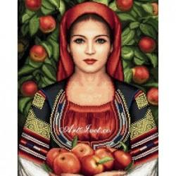 Рисуване по Номера - Мома бере ябълки