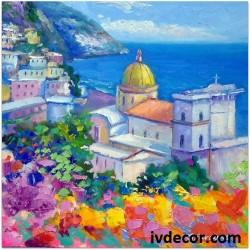 Рисуване по Номера - Гръцко утро над църквата