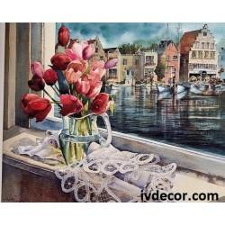 Рисуване по номера - Красив ден в Холандия