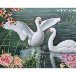 Рисуване по номера - Закрилата на лебеда