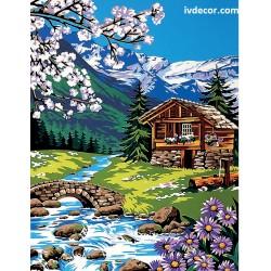 Рисуване по номера - Нейде в планината