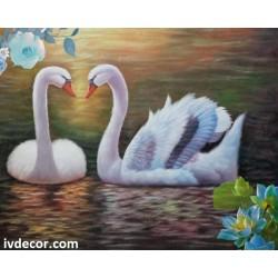 Рисуване по номера - Лебедова нежност