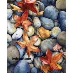 Рисуване по номера - Есен сред речните камъни