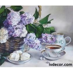 Рисуване по номера - На кафе и локум у леля Ганка