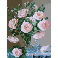 Рисуване по номера - Рогът на розовото изобилие