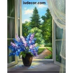 Рисуване по номера - Полъх на гора и цветя