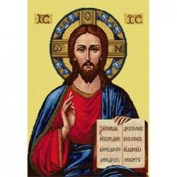 Гоблен със схема  - Благославящият Христос DMC