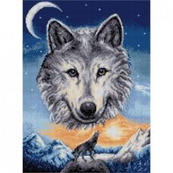 Гоблен със  схема  - Планински вълк  DMC